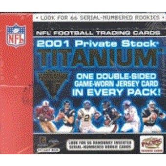 2001 Pacific Private Stock Titanium Football Hobby Box