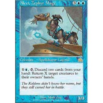 Magic the Gathering Prophecy FOIL Alexi, Zephyr Mage - MODERATE PLAY (MP)