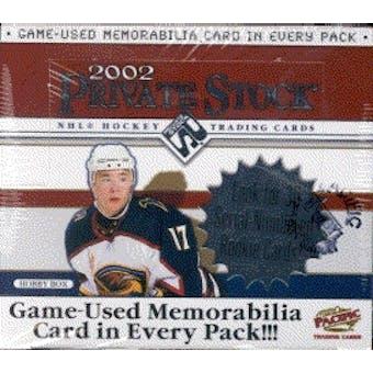 2001/02 Pacific Private Stock Hockey Hobby Box