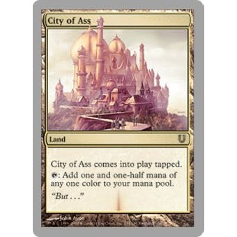 Magic the Gathering Unhinged Single City of Ass FOIL - NEAR MINT (NM)