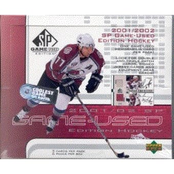 2001/02 Upper Deck SP Game Used Hockey Hobby Box