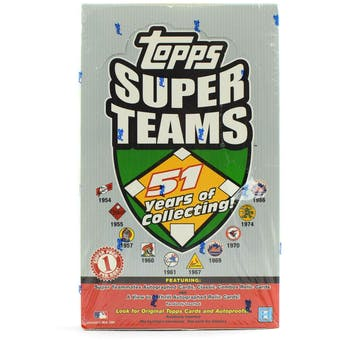 2002 Topps Super Teams Baseball Hobby Box