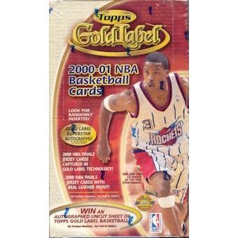 2000/01 Topps Gold Label Basketball Hobby Box