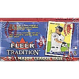 2002 Fleer Tradition Baseball Hobby Box