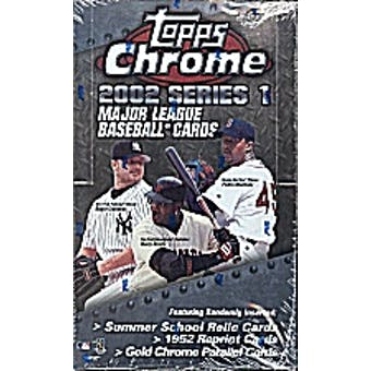 2002 Topps Chrome Series 1 Baseball Hobby Box