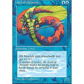Magic the Gathering 4th Edition Single Lord of Atlantis - NEAR MINT (NM)