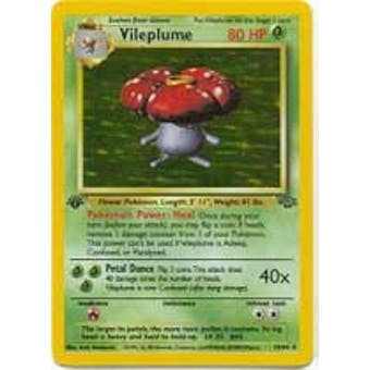 Pokemon Jungle Single 1st Edition Vileplume 15/64 - SLIGHT PLAY (SP)