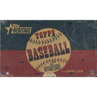 2002 Topps Heritage Baseball Hobby Box (Reed Buy)