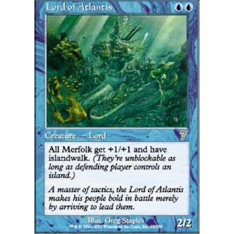 Magic the Gathering 7th Edition Single Lord of Atlantis Foil - NEAR MINT (NM)