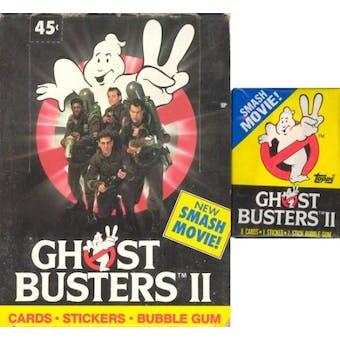 Ghostbusters II Wax Box (1989 Topps)