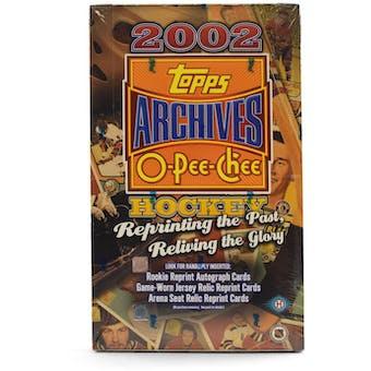 2001/02 Topps / O-Pee-Chee Archives Hockey Hobby Box