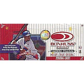 2002 Donruss Baseball Hobby Box