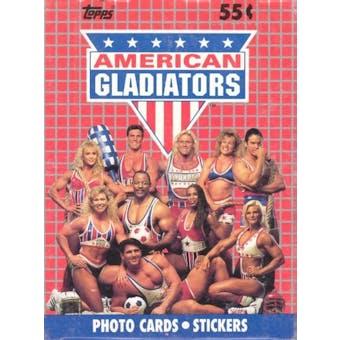 American Gladiators Wax Box (1991 Topps)