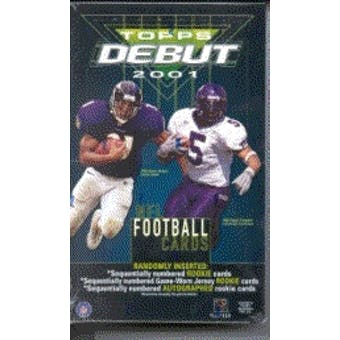 2001 Topps Debut Football Hobby Box