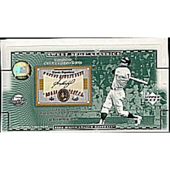 2002 Upper Deck Sweet Spot Classics Baseball Hobby Box