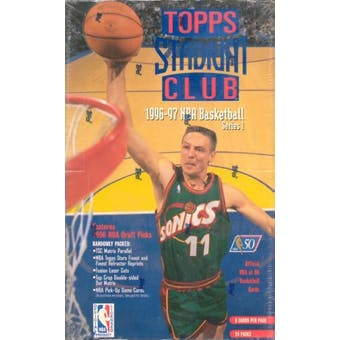 1996/97 Topps Stadium Club Series 1 Basketball Hobby Box