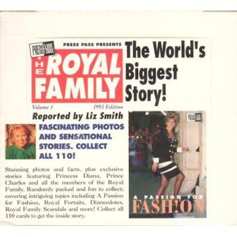 The Royal Family Hobby Box (1993 Press Pass)