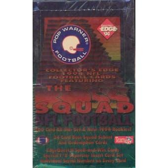 1994 Collector's Edge Boss Squad Pop Warner Football Hobby Box