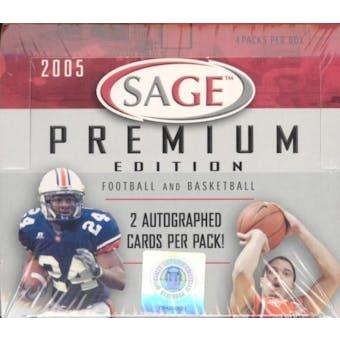 2005 Sage Premium Football & Basketball Hobby Box