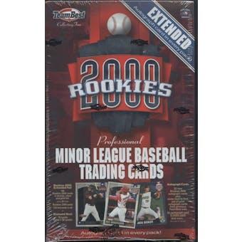 2000 Team Best Rookies Extended Baseball Hobby Box