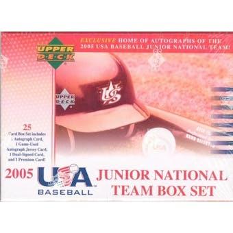 2006 Upper Deck Team USA Baseball National Junior Team Set (Box)
