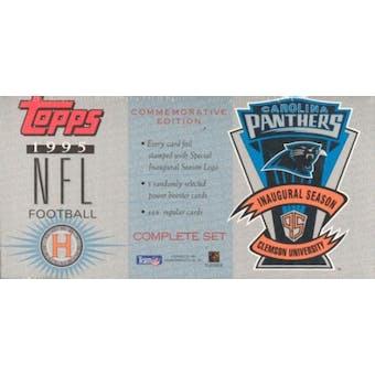 1995 Topps Carolina Panthers Football Factory Set
