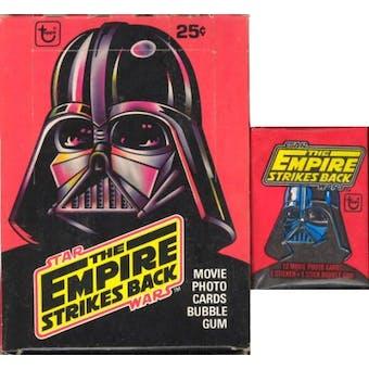 Star Wars Empire Strikes Back Series 1 Wax Box (1980 Topps)