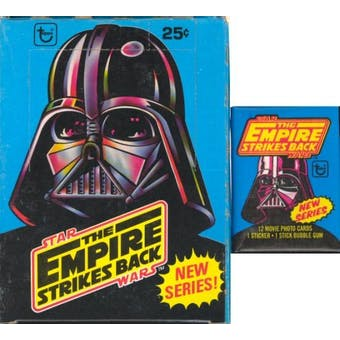Star Wars Empire Strikes Back Series 2 Wax Box (1980 Topps)