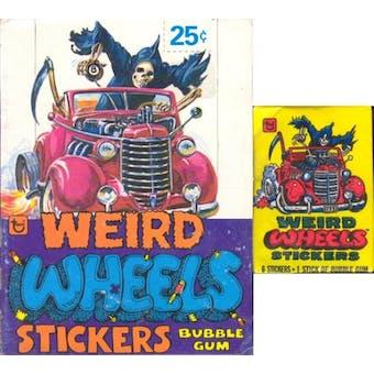 Weird Wheels Stickers Wax Box (1980 Topps)