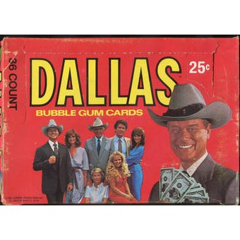 Dallas (TV Show) Wax Box (1981 Donruss)