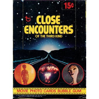 Close Encounters of the Third Kind Wax Box (1978 Topps)