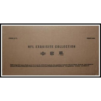 2005 Upper Deck Exquisite Football Hobby 3-Box Case