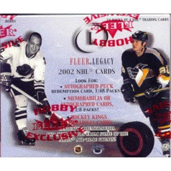 2001/02 Fleer Legacy Hockey Hobby Box