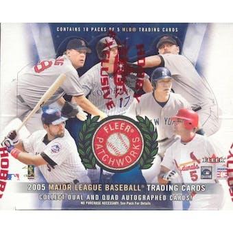 2005 Fleer Patchworks Baseball Hobby Box (Upper Deck)