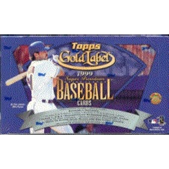 1999 Topps Gold Label Baseball Hobby Box