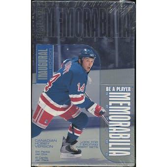 1999/00 Be A Player Memorabilia Hockey Canadian Hobby Box