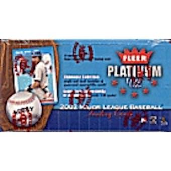 2002 Fleer Platinum Baseball Hobby Box