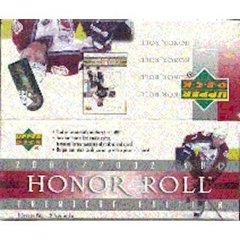 2001/02 Upper Deck Honor Roll Hockey Hobby Box