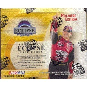 2002 Press Pass Eclipse Racing Hobby Box