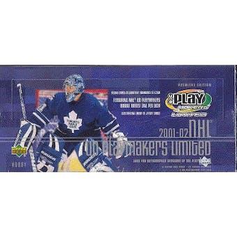 2001/02 Upper Deck Playmakers Hockey Hobby Box