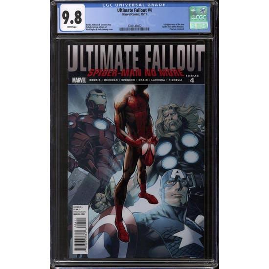 Ultimate Fallout #4 CGC 9.8 (W) *3706148002*
