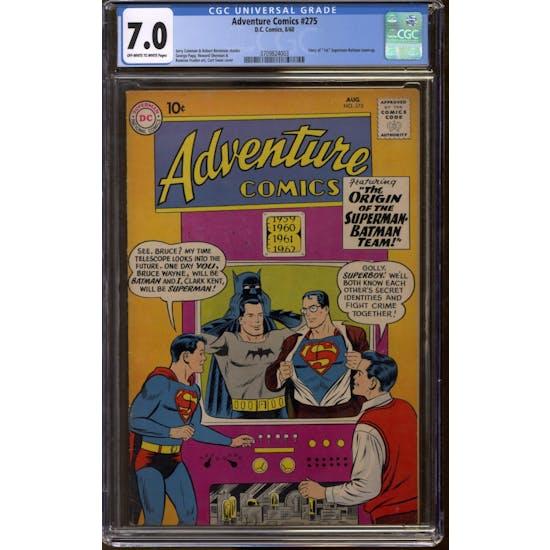 Adventure Comics #275 CGC 7.0 (OW-W) *3709824003*