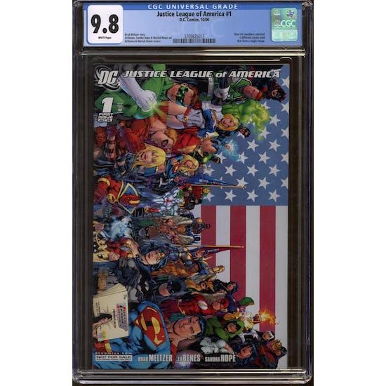 Justice League of America #1 CGC 9.8 (W) Retailer Incentive *3709825013*