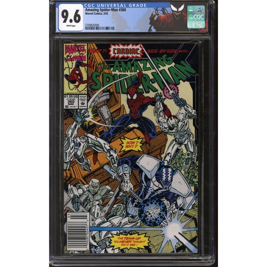 Amazing Spider-Man #360 CGC 9.6 (W) Newsstand/Carnage Label *3709826006*