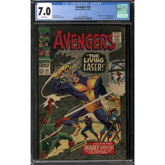 Avengers #34 CGC 7.0 (W) *3711795018*