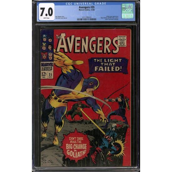 Avengers #35 CGC 7.0 (W) *3711795019*
