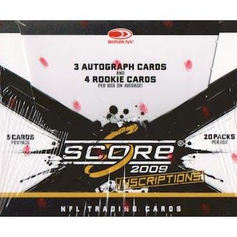 2009 Score Inscriptions Football Hobby Box