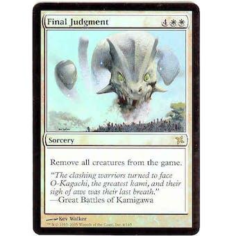 Magic the Gathering Betrayers of Kami Single Final Judgment Foil