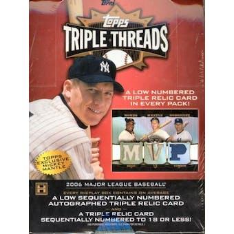 2006 Topps Triple Threads Baseball Hobby Box