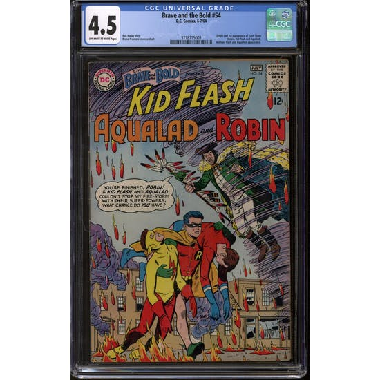 Brave and the Bold #54 CGC 4.5 (OW-W) *3718715003*